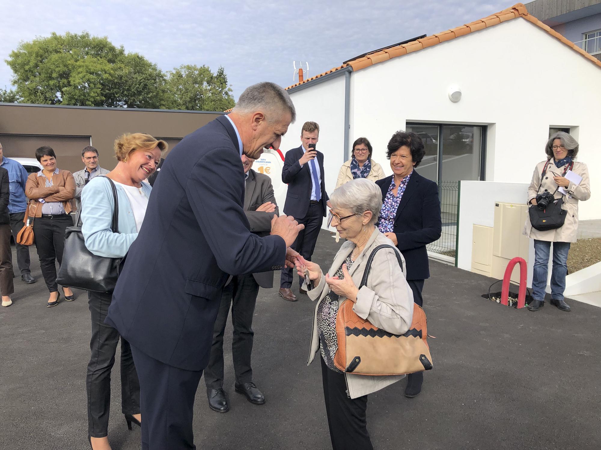 Inauguration logements individuels des Herbiers, projet DGA Architectes