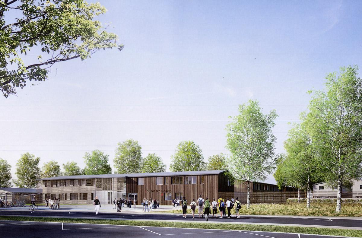 Construction du collège aux Essarts - DGA Architectes en Vendée