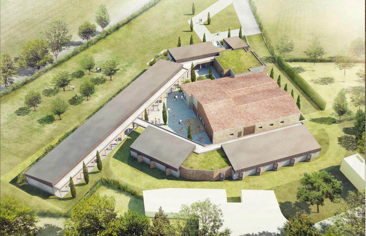 Vue du ciel du projet de résidence à Chambretaud - DGA Architectes