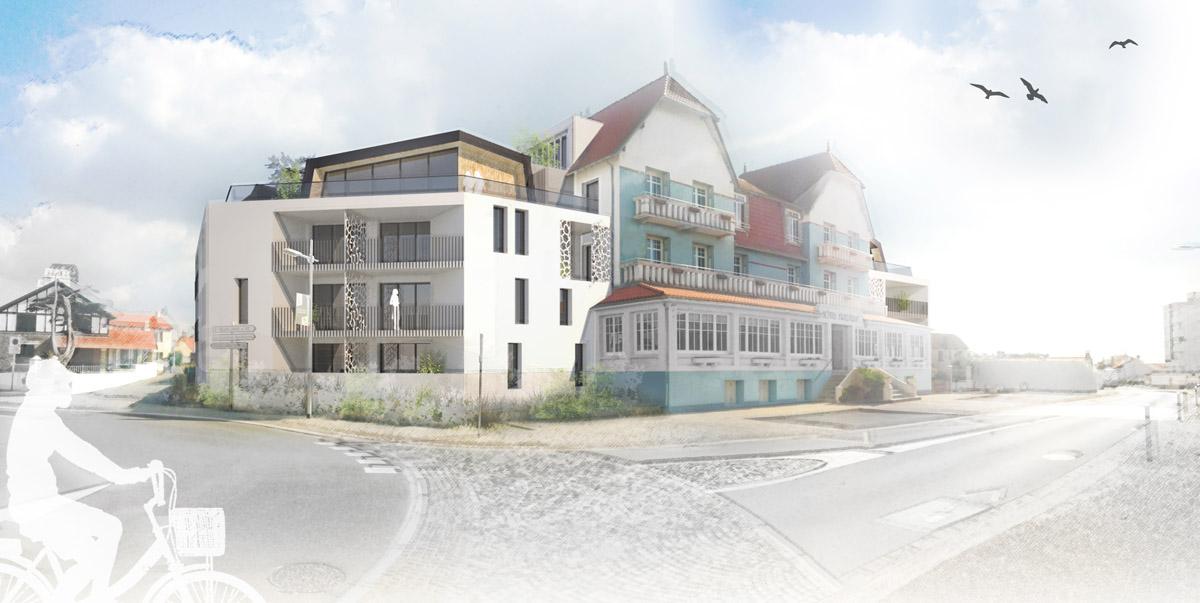 Un projet pour l'hôtel de Sion sur l'Océan - DGA Architectes en Vendée