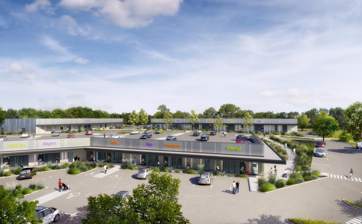 Création de la zone d'activité de Bressuire par le cabinet d'architectes DGA en Vendée