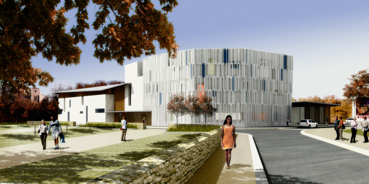 Nouveau pôle culturel aux Herbiers créé par les architectes de DGA Architectes