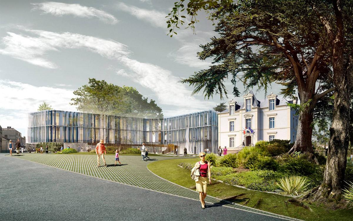 Hôtel des communes réalisé par l'agence DGA Architectes des Herbiers