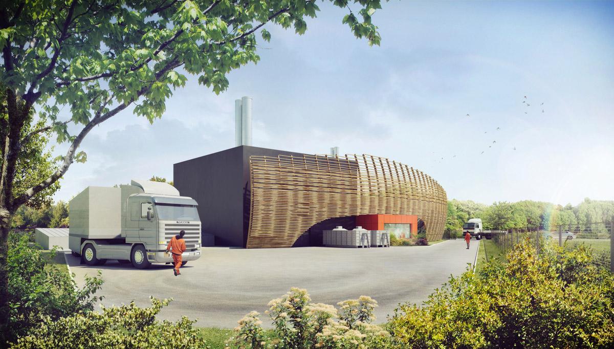 Chaufferie biomasse et réseau de chaleur à la Roche sur Yon - DGA Architectes en Vendée