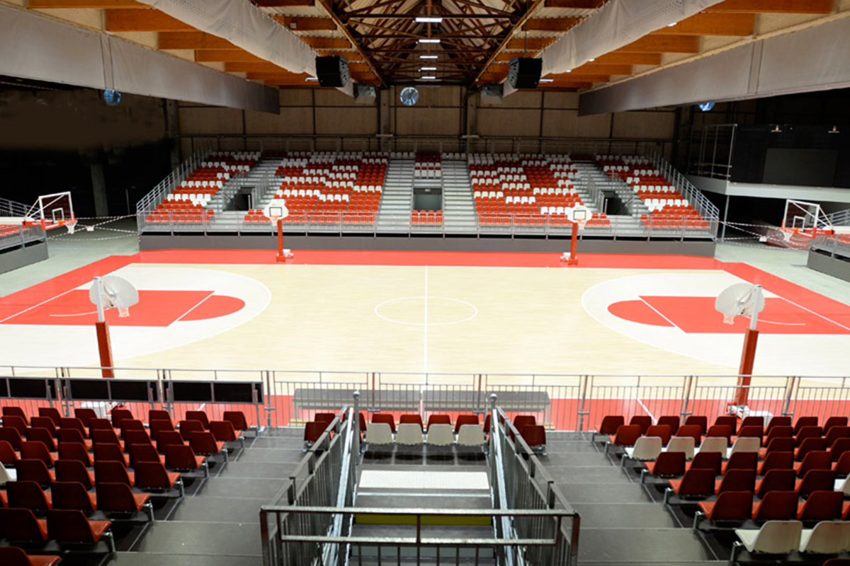 Salle de basket des Oudairies une conception DGA Architectes