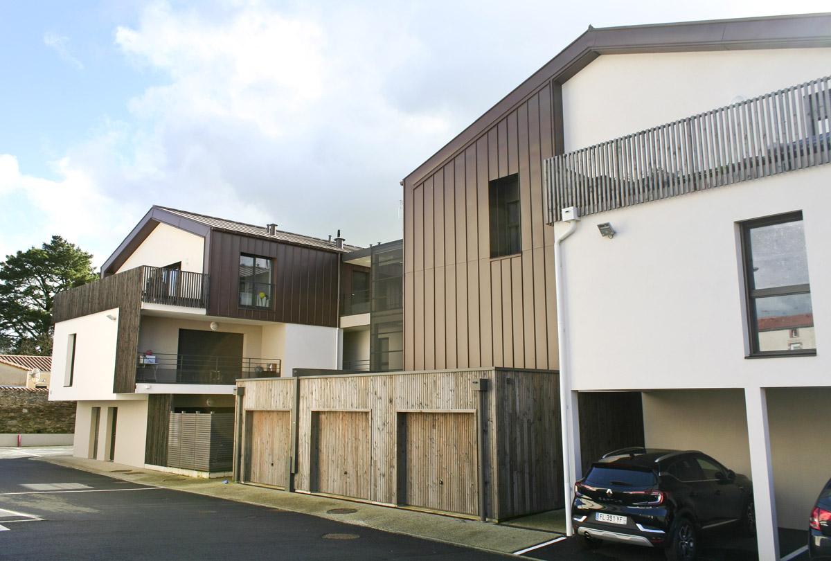 Façade arrière 21 logements créés par les architectes des Herbiers DGA