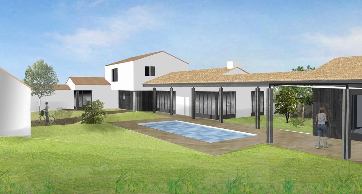 Projet maison individuelle aux Sables d'Olonne par DGA Architectes