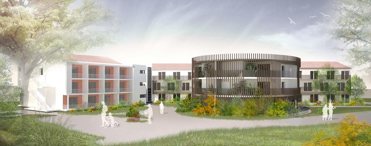 Réaménagement de l'EHPAD de Boussay par les architectes de DGA les Herbiers