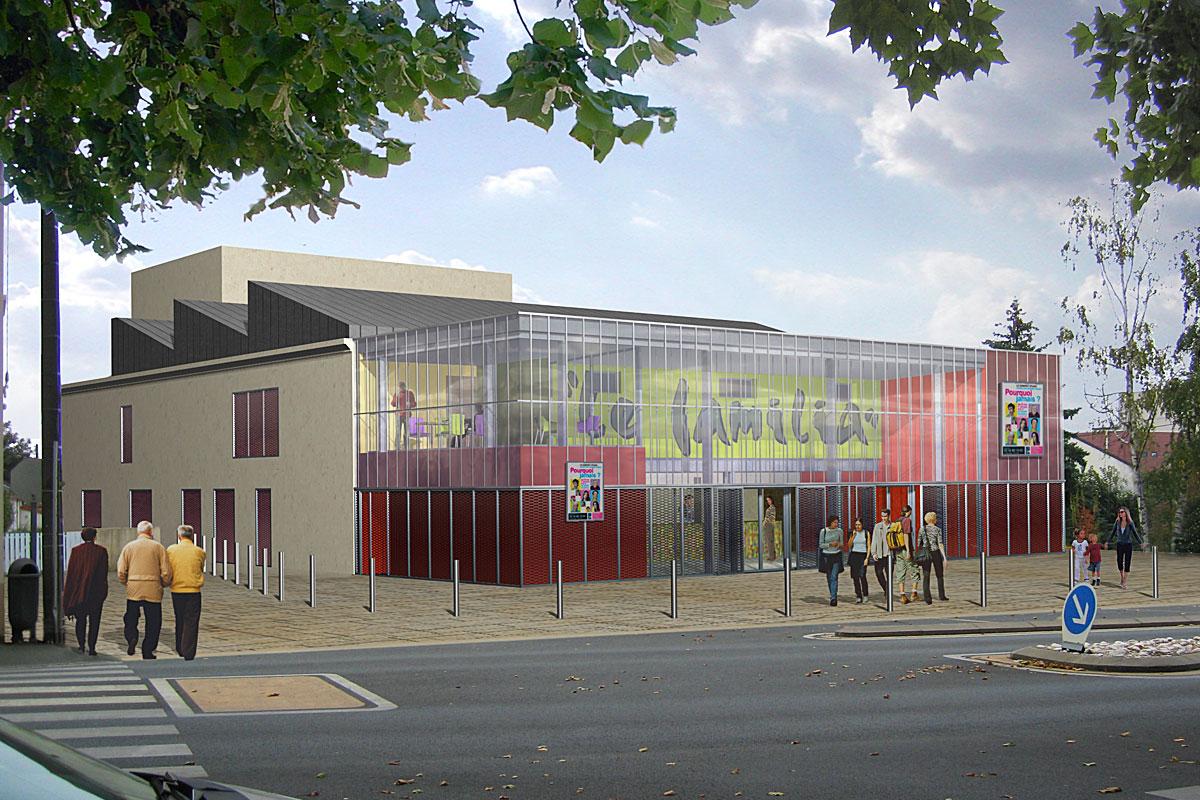 Projet salle polyvalente aux Herbiers - DGA Architectes