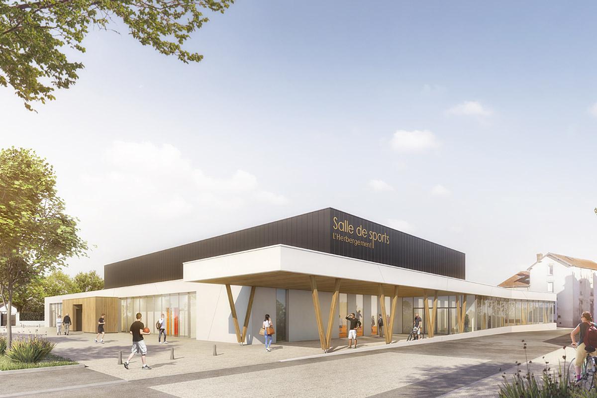 Restructuration de la salle de sport de L'Herbergement Vendée - DGA Architectes