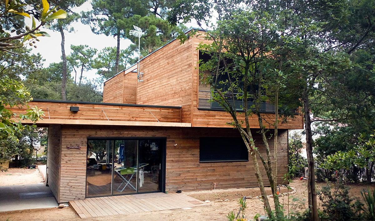 Maison d'architectes en bois construite par DGA Architectes Vendée