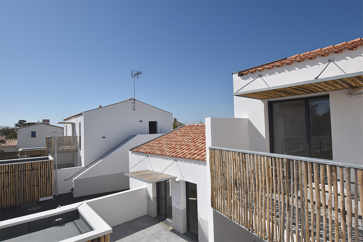Logements île de Noirmoutier réalisé par l'agence DGA Architectes