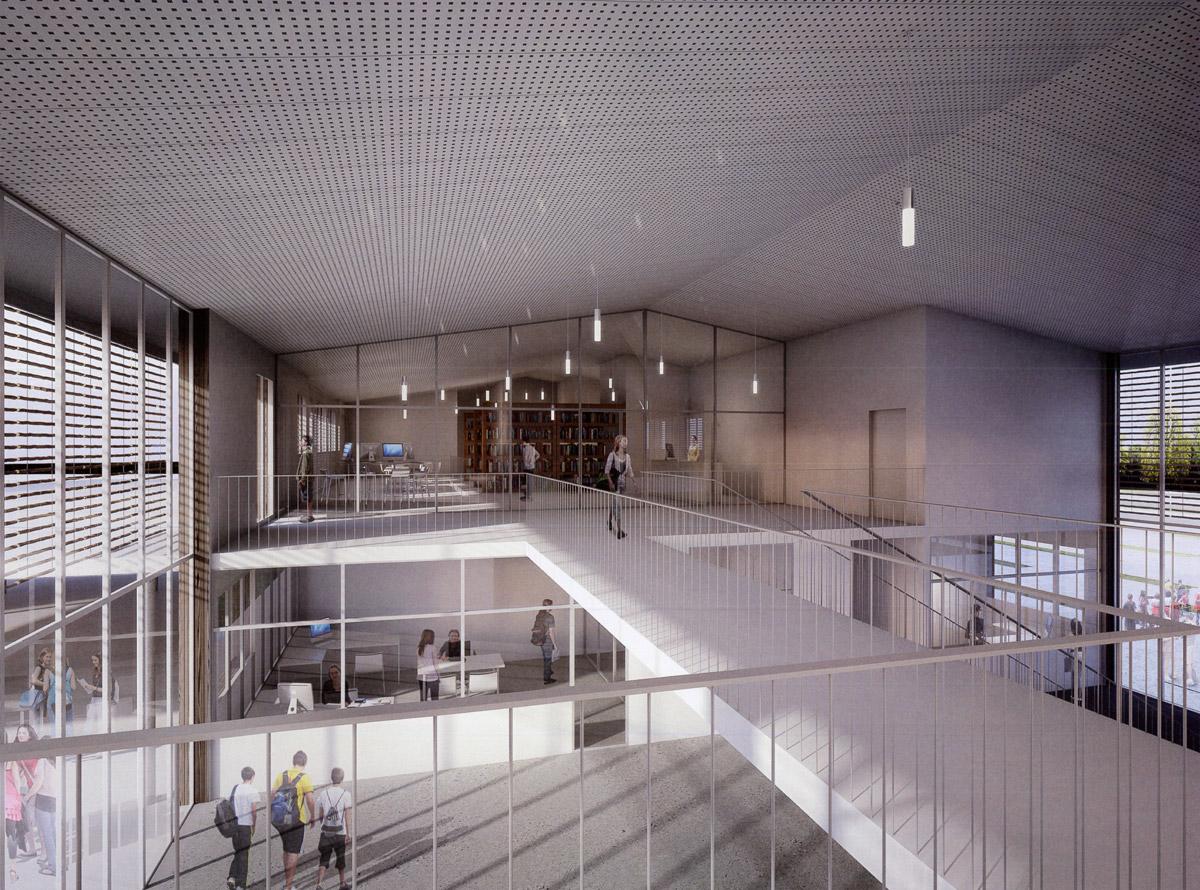 Architecture intérieure du collège réalisé par DGA Architectes