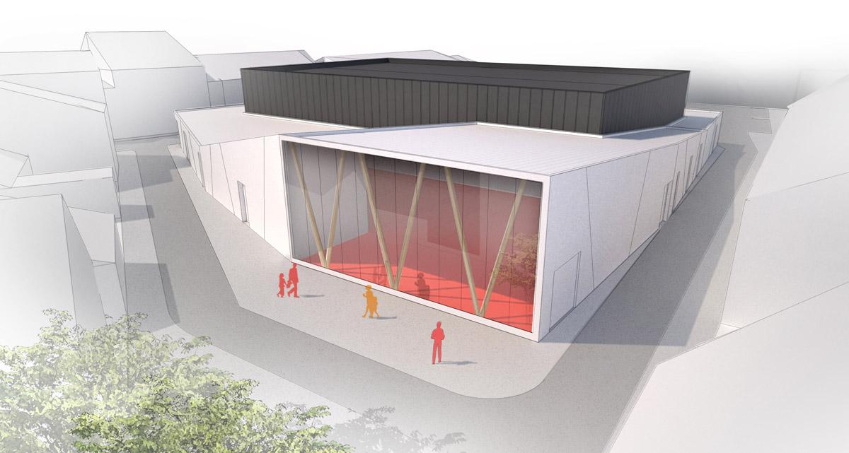 Architecture de la salle de sport de l'Herbergement par DGA Architectes