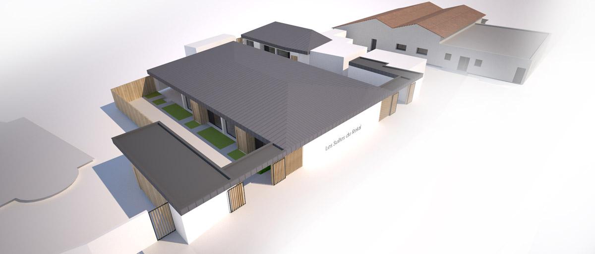 Les suites du Relais à Chambretaud une réalisation DGA Architectes