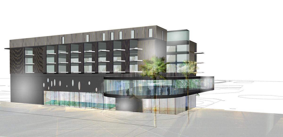 Hôtel 4 étoiles aux Sables d'Olonne par DGA Architectes