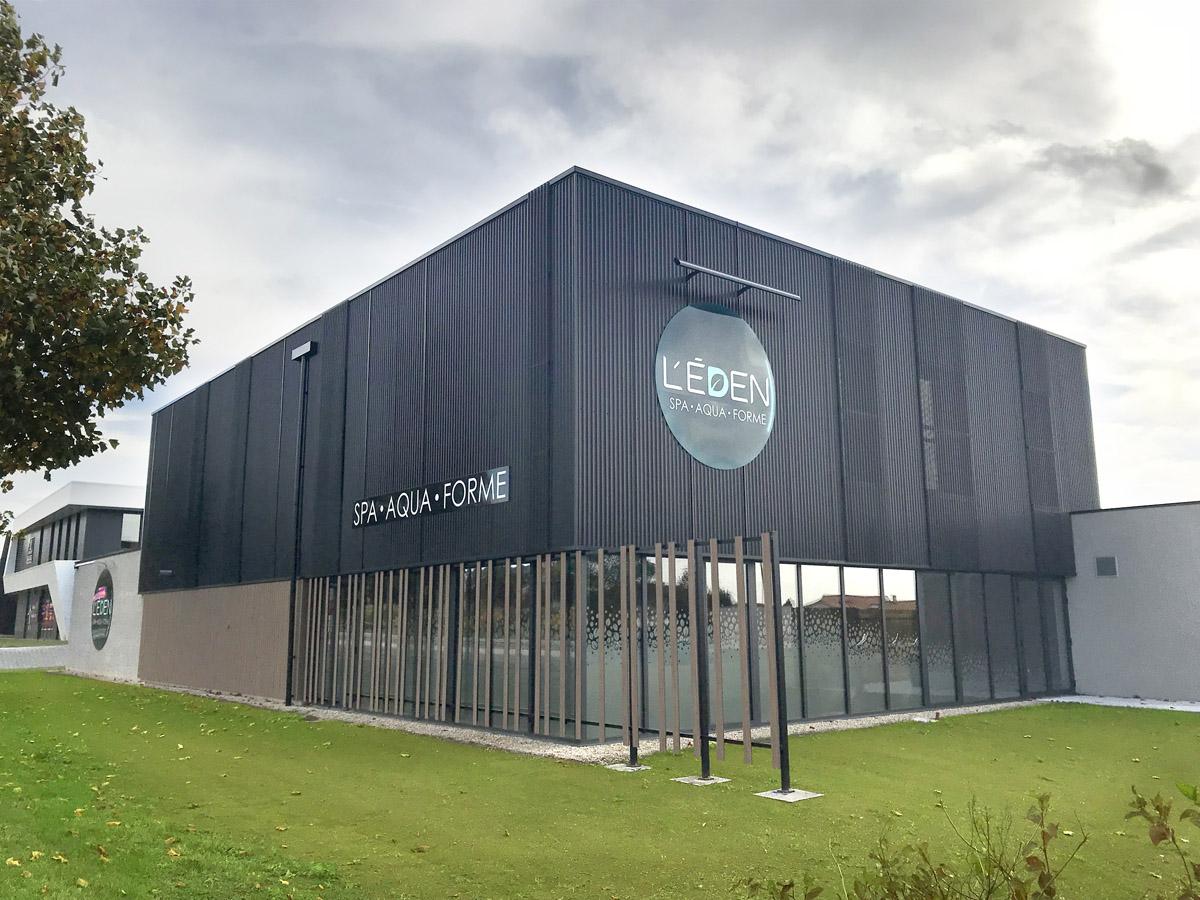 L'Eden SPA centre de bien-être réalisé par l'agence d'architecture des Herbiers : DGA