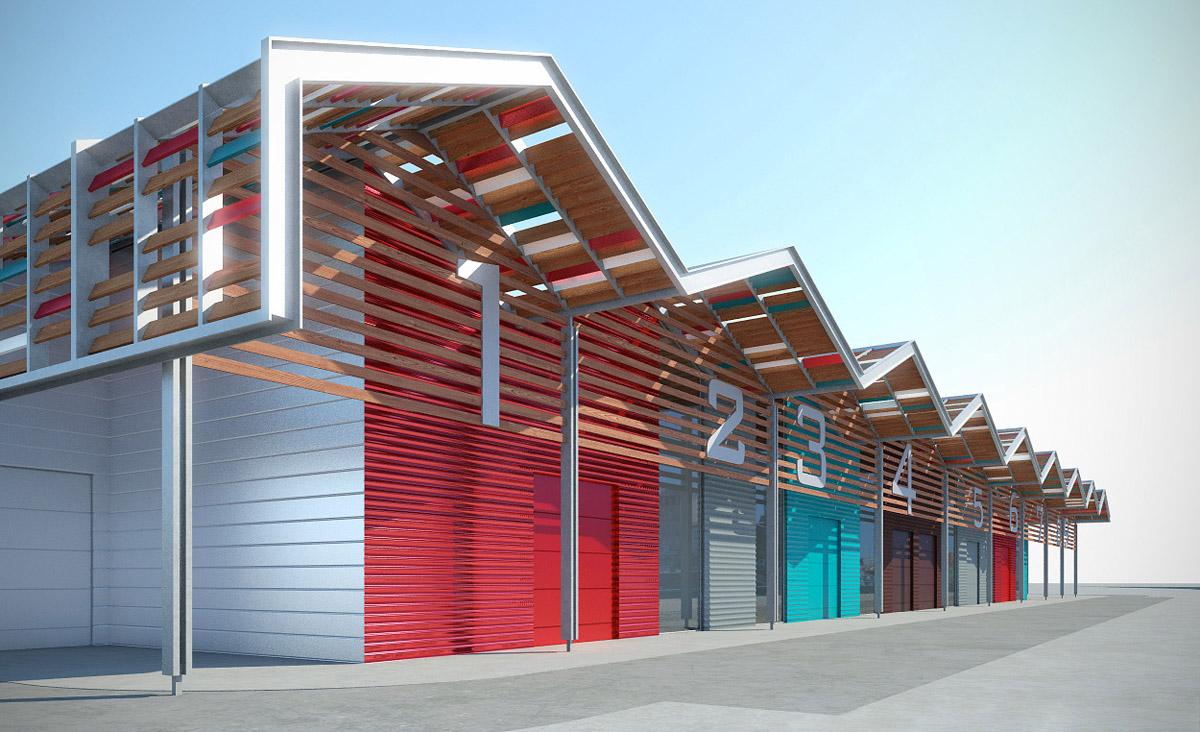 Une nouvelle zone commerciale aux Sables d'Olonne grâce à l'équipe de DGA Architectes
