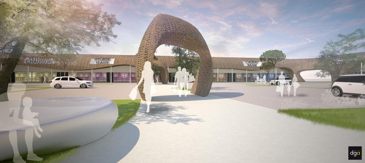 Réalisation de la nouvelle zone d'activité Herbignac par l'agence d'architecture DGA les Herbiers