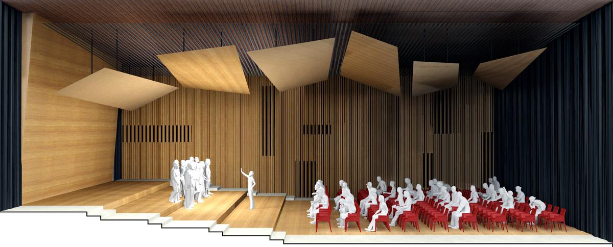 Architecture intérieur du Pole culturel des Herbiers - DGA Architectes en Vendée