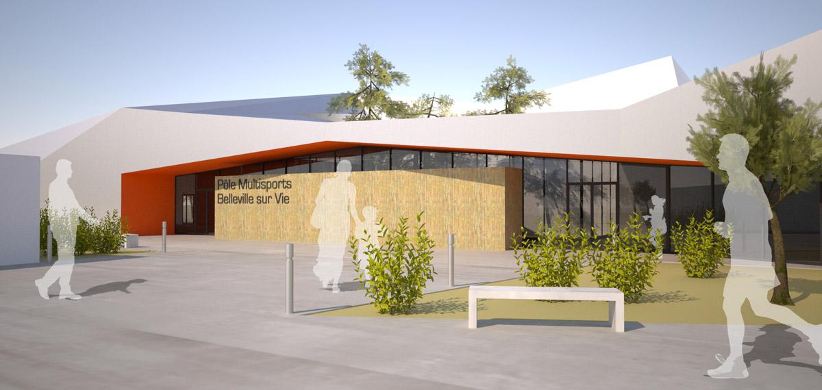 Extension pôle multisport de Bellevigny par le cabinet DGA Architecte Vendée
