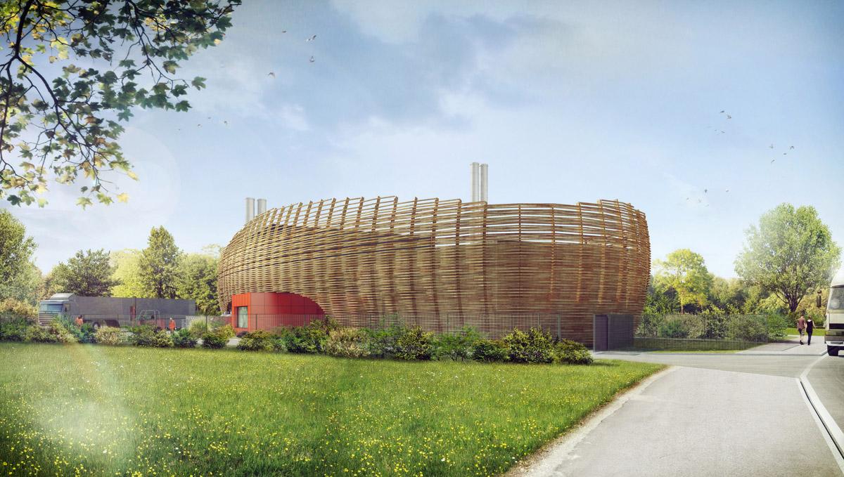 Chaufferie de la Roche sur Yon réalisée par l'équipe de DGA Architectes aux Herbiers