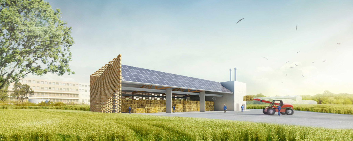 Chaufferie de St Gemme la Plaine réalisé par l'agence DGA Architectes les Herbiers