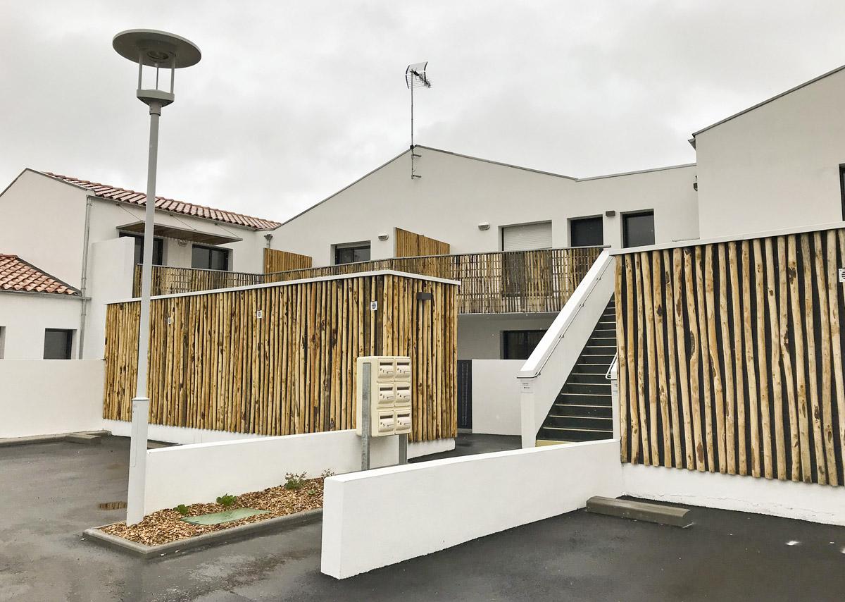 Logements collectifs à la Guérinière construit par les professionnels de DGA Architectes