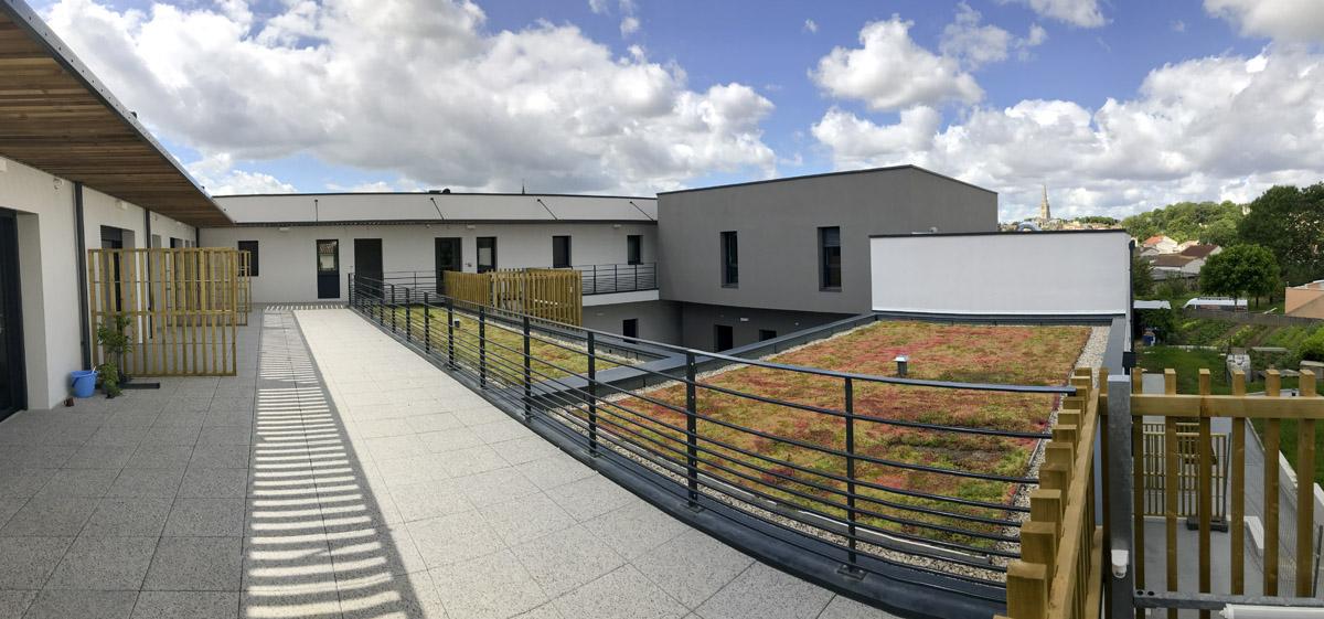 Espace extérieur CHRS Fontenay le Compte -DGA Architectes