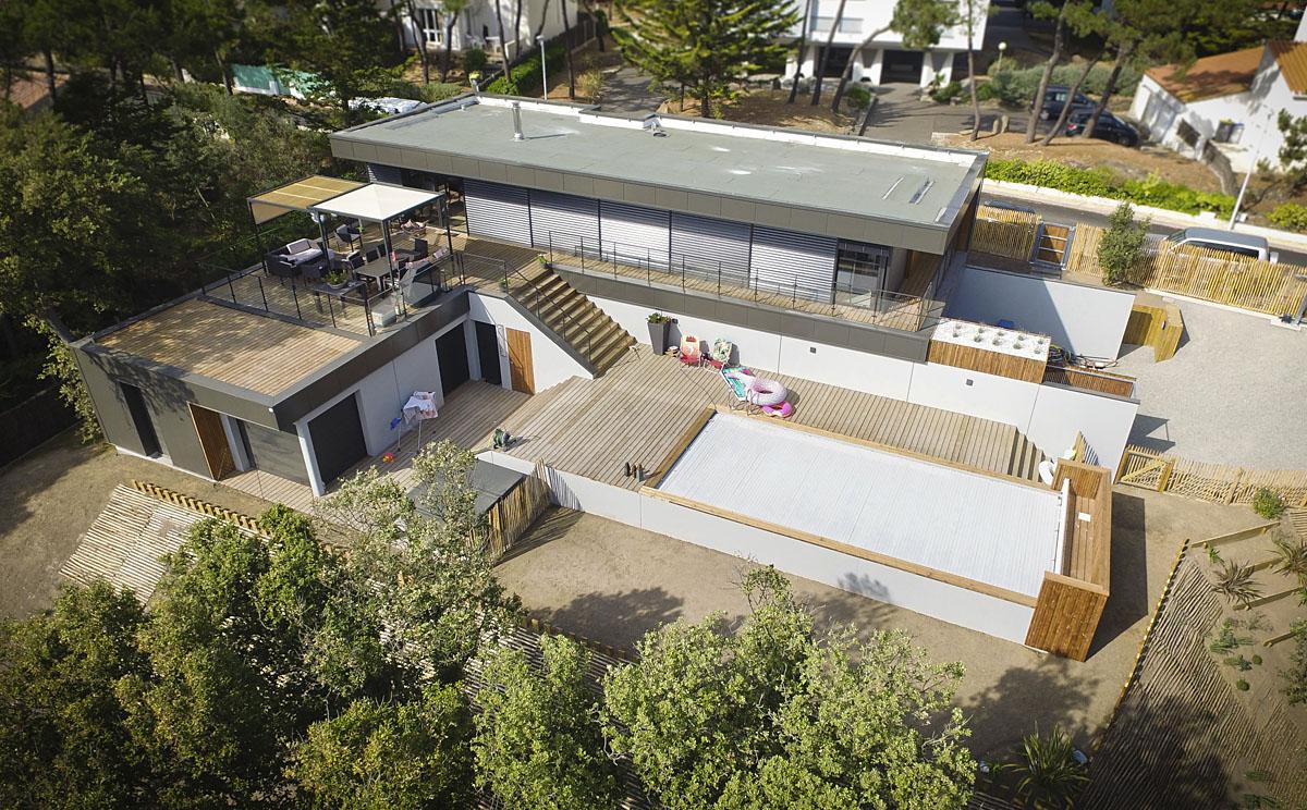 Maison d'habitation aux Sables d'Olonne créée par DGA Architectes