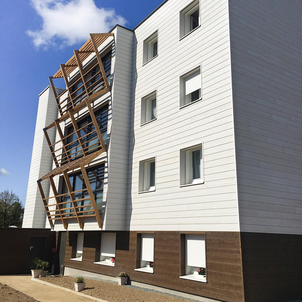Immeuble de 14 logements réhabilité par DGA Architectes les Herbiers