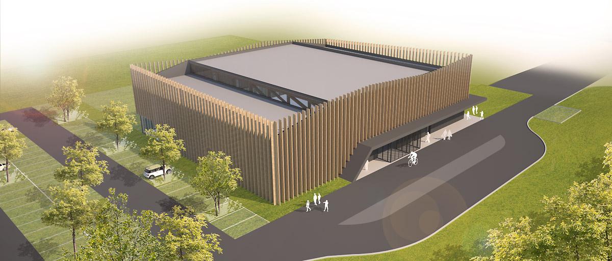 Construction de la salle de gymnastique Moutiers les mauxfaits par DGA Architectes