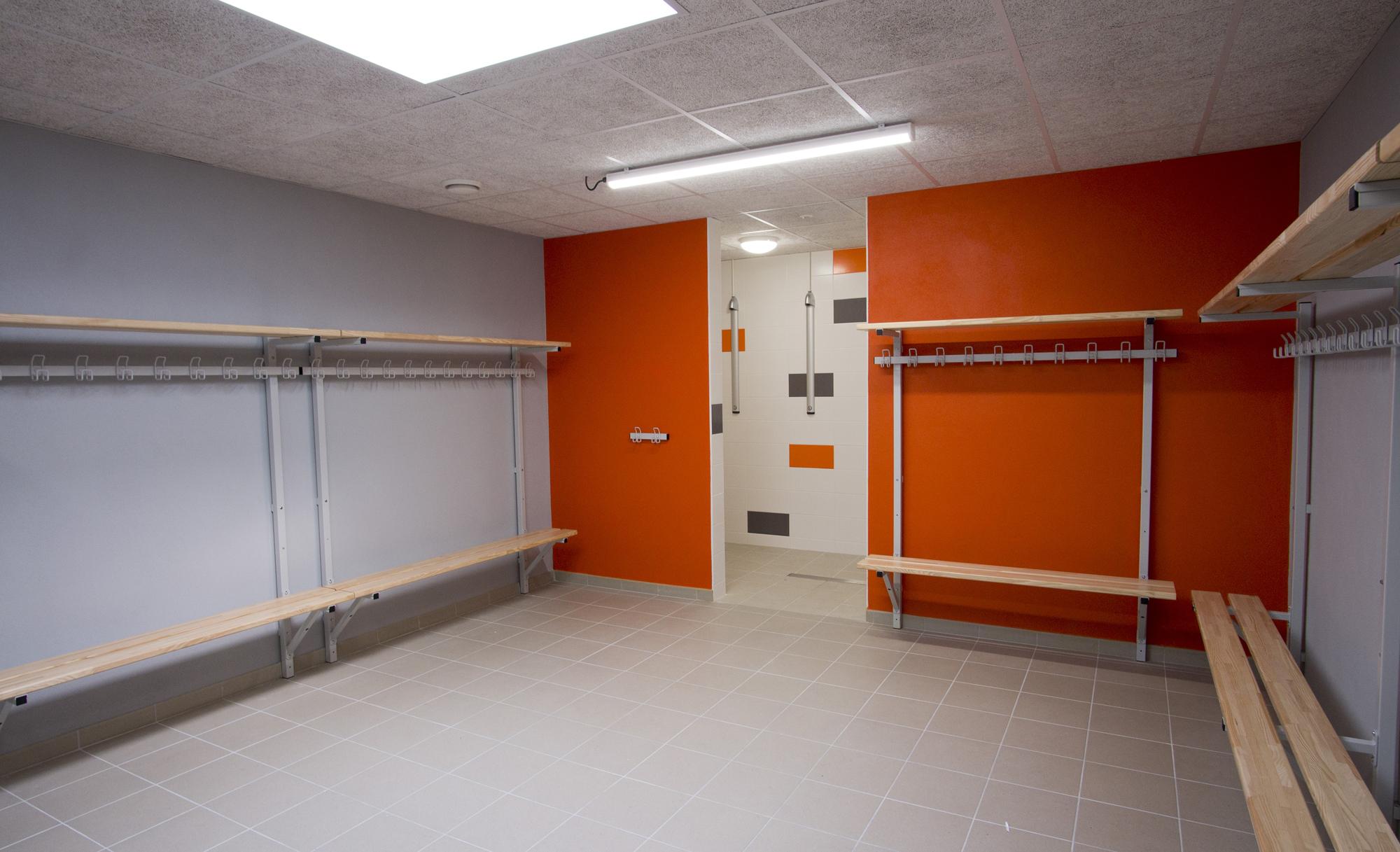 Vestiaires salle de sport Jean Yole des Herbiers - DGA Architectes