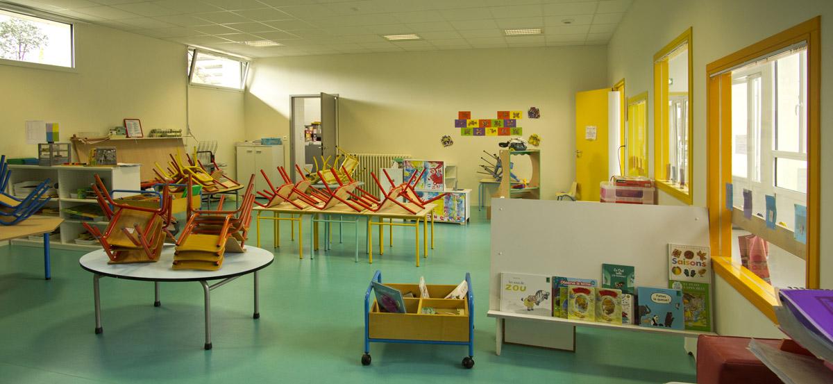 Salle de classe restructurée par le cabinet DGA des herbiers