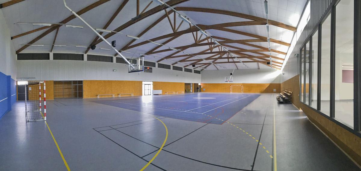 Salle de sport Mouilleron en Pareds rénovée par l'agence des Herbiers DGA Architectes