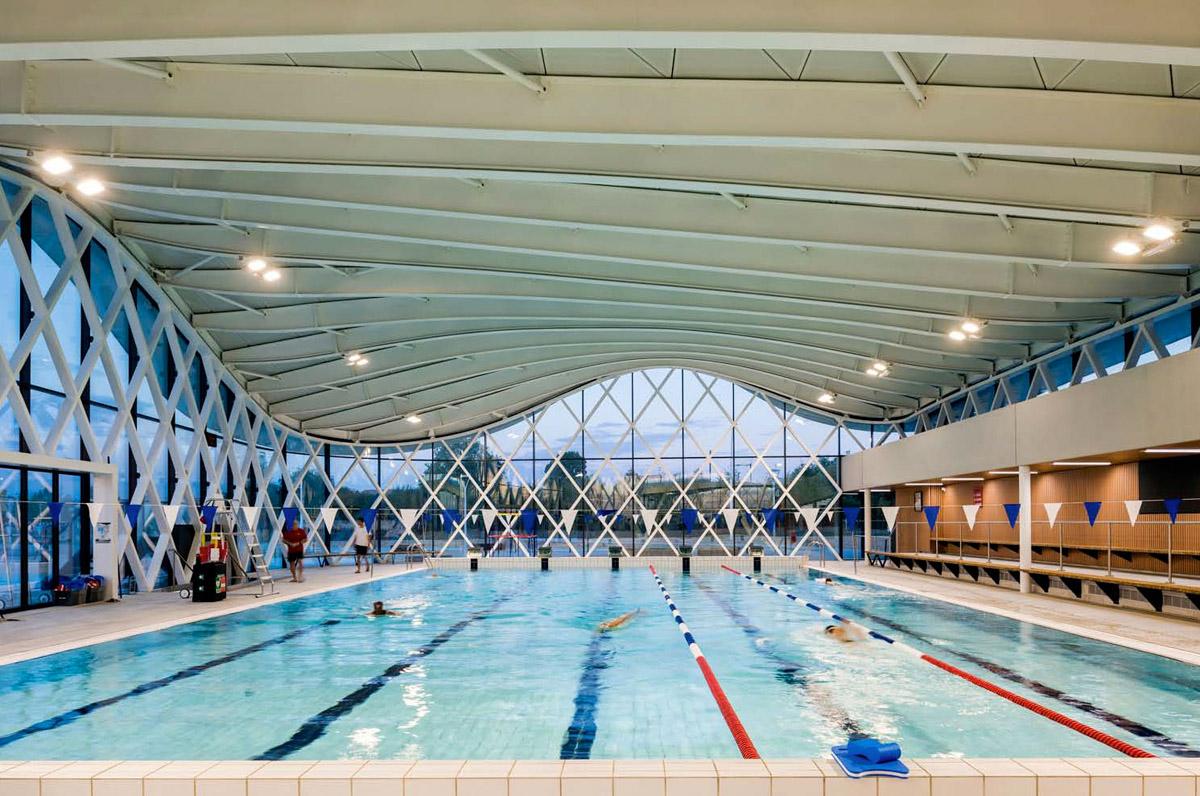 Architecture piscine St Hilaire de Riez - DGA Architectes les Herbiers