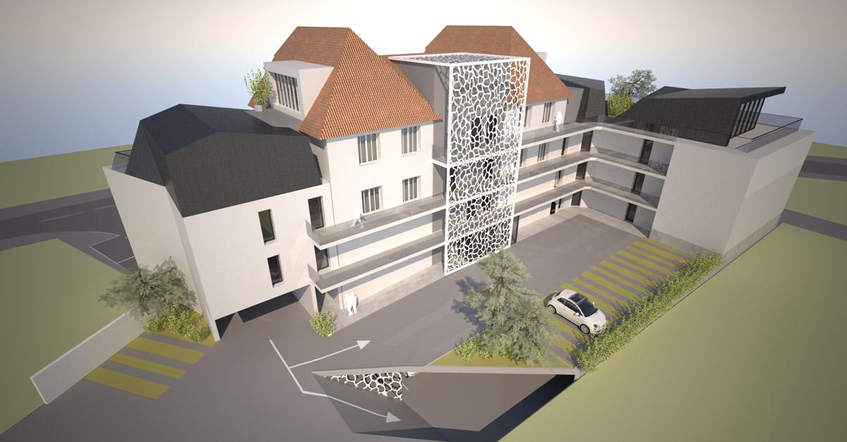 Rénovation et extension en étude pour l'hôtel de Sion sur l'Océan - DGA Architectes