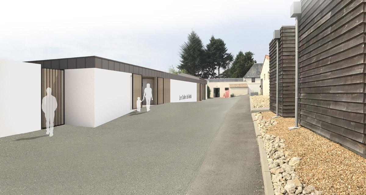 Construction d'un hôtel à Chambretaud par le cabinet d'architecture DGA
