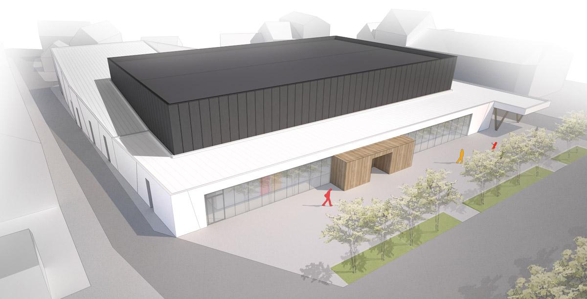 Complexe sportif l'Herbergement par l'agence DGA Architectes des Herbiers