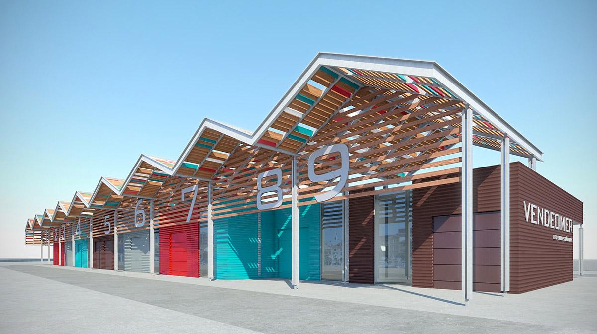 Zone commerciale Vendéomer imaginée par les architectes de DGA les Herbiers