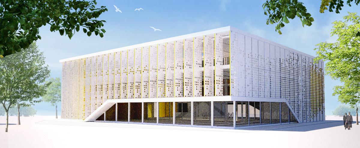 Médiathèque des Sables d'Olonne construite par DGA Architectes en Vendée