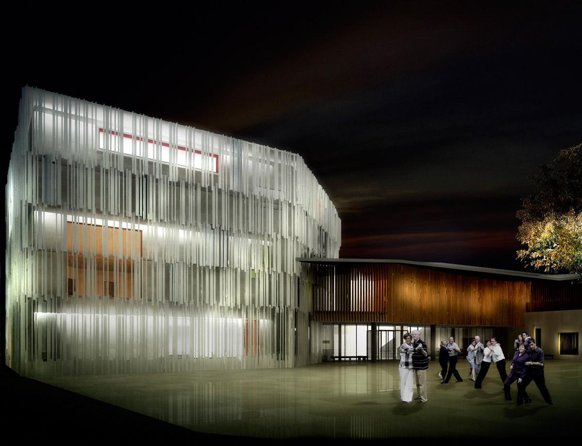 Ecole de danse et musique aux Herbiers réalisée par le cabinet d'architecture DGA