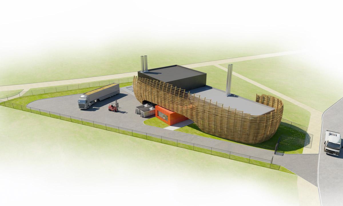 Chaufferie biomasse construite par l'agence DGA Architectes