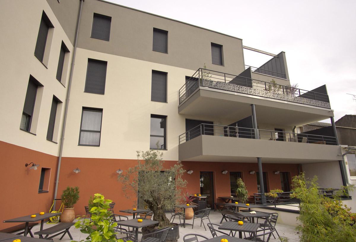 Espace extérieur des logements crée par les architectes de DGA