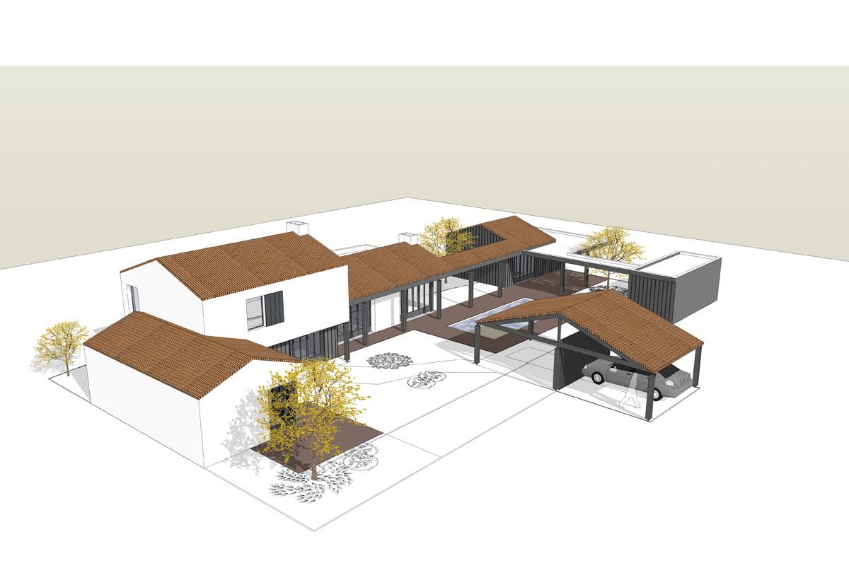 Grande maison de 270m² aux Sables d'Olonne créée par les experts de DGA