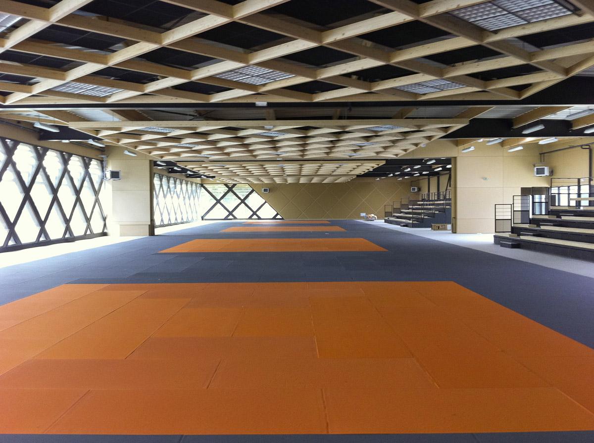 Intérieur du dojo des Herbiers - DGA Architectes