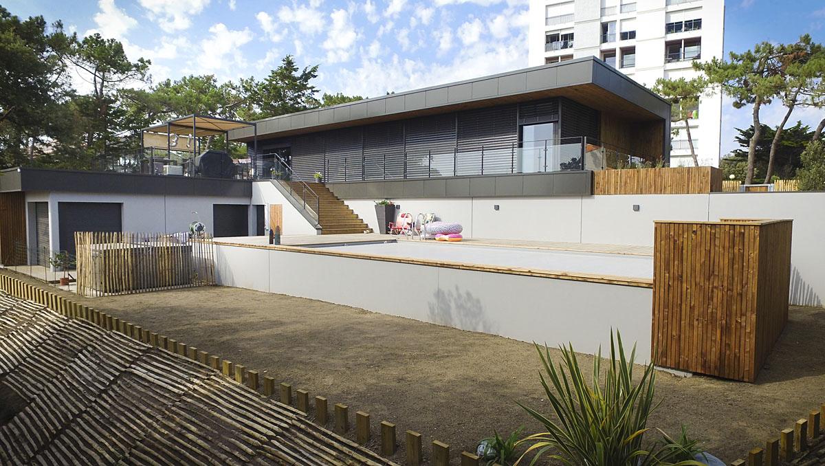 Maison avec piscine les Sables d'Olonne conception DGA Architectes