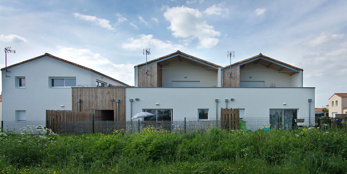 Construction de 6 logements aux Herbiers par le cabinet architecturale DGA