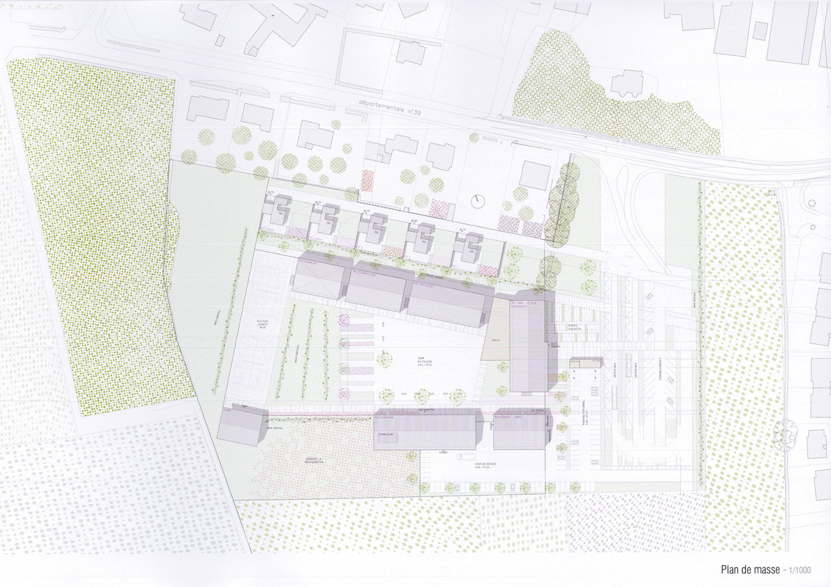 Plan collège les Essarts réalisé par l'agence DGA Architectes