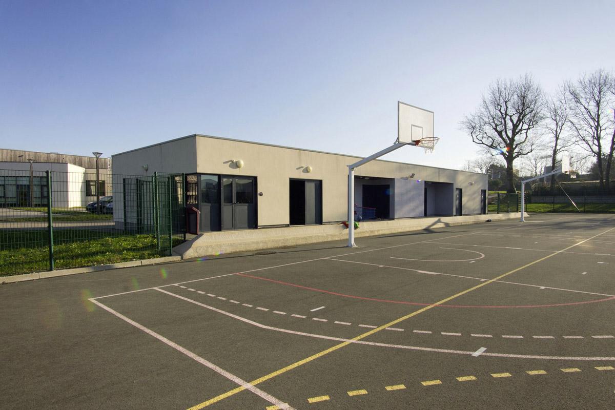 Plateau sportif du collège Piobetta construit par DGA les Herbiers